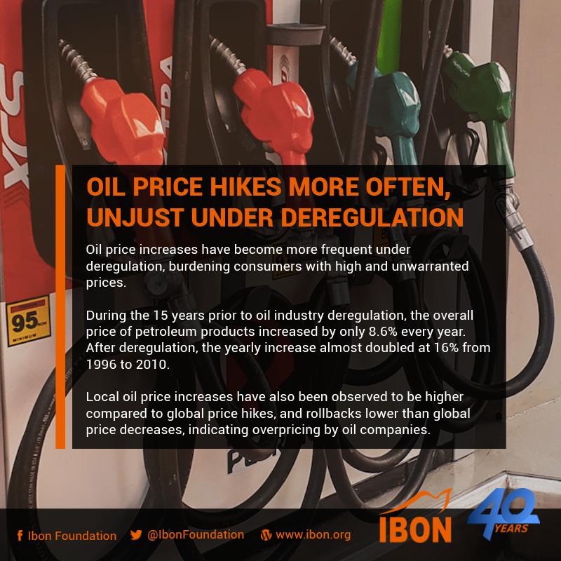 20190201 oil price hikes more often, unjust under deregulation